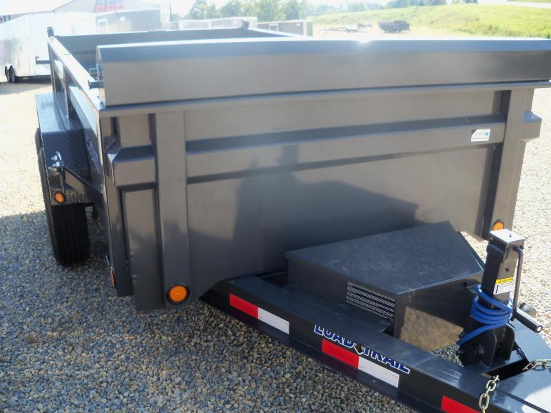12X072 Load Trail Gray Dump Trailer Slide In Ramps Max Step DT7212052