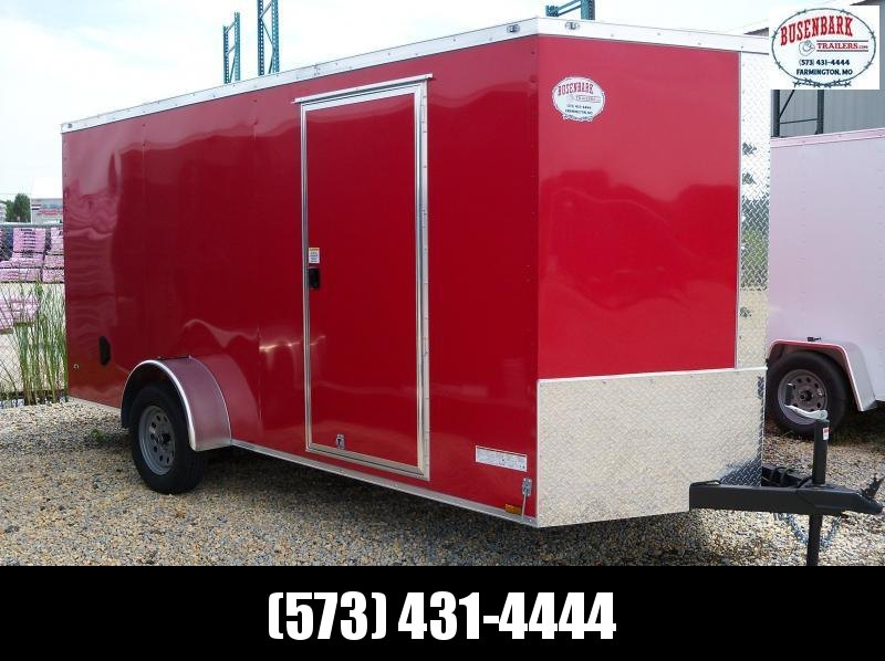 14x072 Anvil Red V-Nose 1 Axle Cargo Trailer AT6X14SA