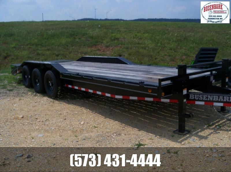 24C102 Load Trail Black Triple Axle Carhauler With Max Ramps on Dovetail CH0224073