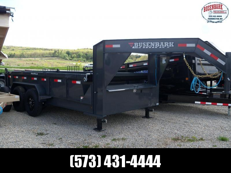 14X083 Lamar Charcoal Gooseneck Low Pro Dump Trailer DL831427