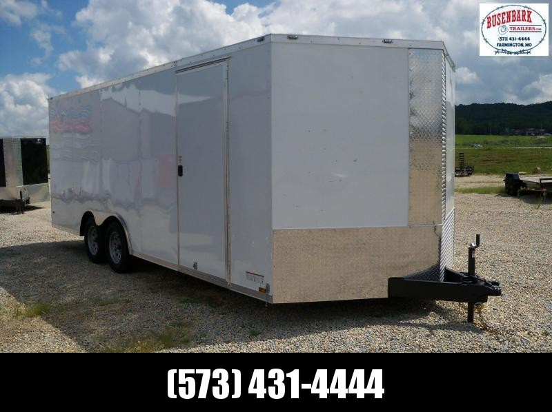 20X102 Anvil White V-Nose Enclosed Cargo Trailer AT85X20TA2