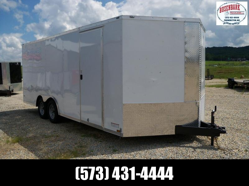 20X102 Anvil White V-Nose Enclosed Cargo Trailer AT85X20TA2