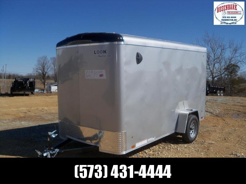 12X072 Look Silver Enclosed Cargo Trailer LSCAB6.0X12S12RD