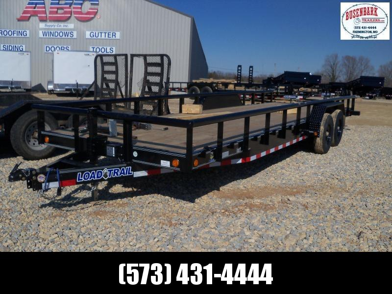24X083 Load Trail Black Carhauler With Side Rails CS8324052