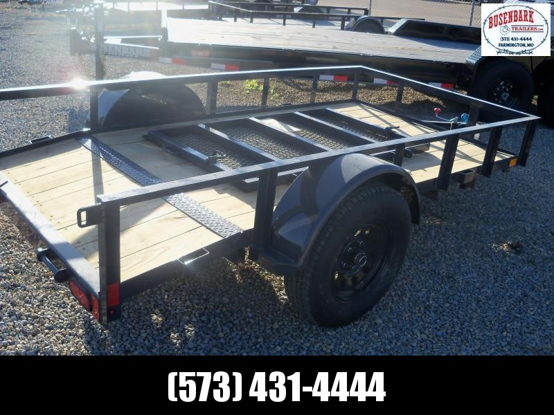 10X060 Lamar Black Classic Utility Trailer 2' Dove 3' Gate Treated Wood UT601013
