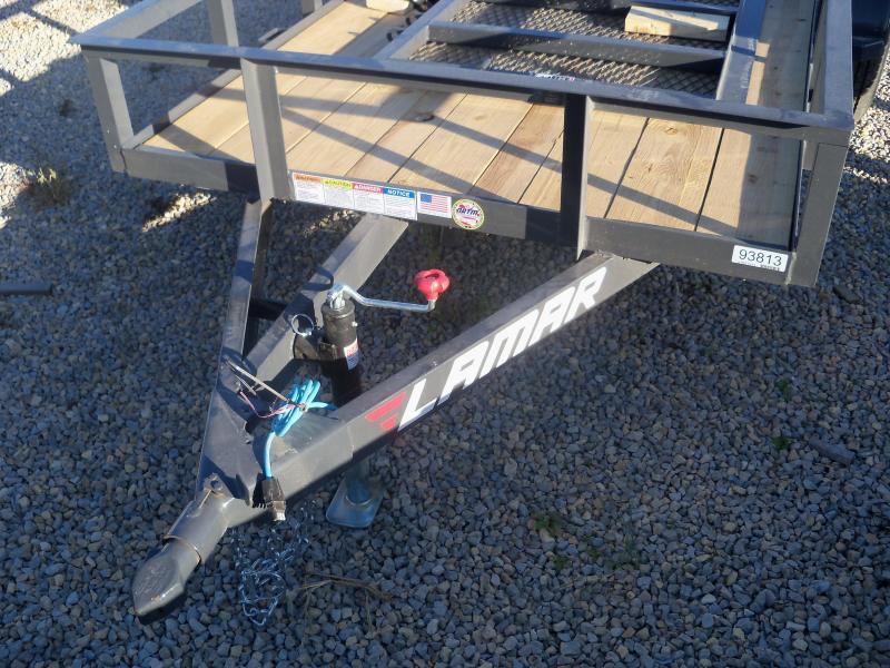 10X060 Lamar Black Classic Utility Trailer 2' Dove 3' Gate Treated Wood UT601013