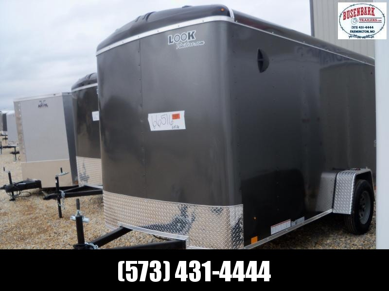 12X072 Look Charcoal Enclosed Cargo Trailer LSCAB6.0C12S12RD
