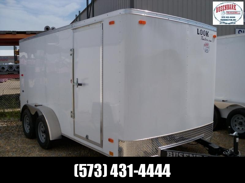 14x084 Look White Flat Top Cargo Trailer STLC7X14TE2