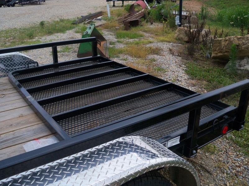 14X083 Load Trail Black Tandem Axle Utility 4' Gate XT8314032