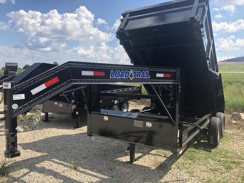 14x083 Load Trail Black Gooseneck Dump Trailer GD8314072SS