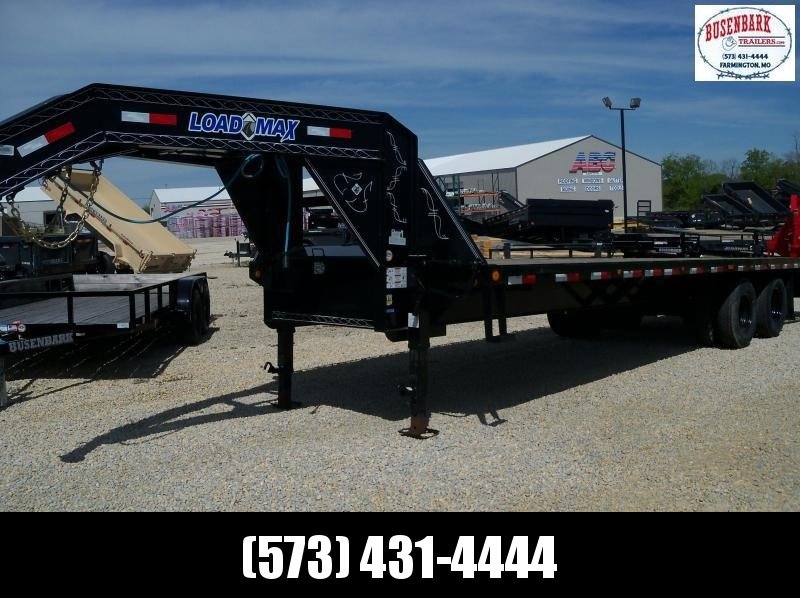 28X102 Load Trail Black Heavy Duty Gooseneck Flatbed Trailer GH0228102
