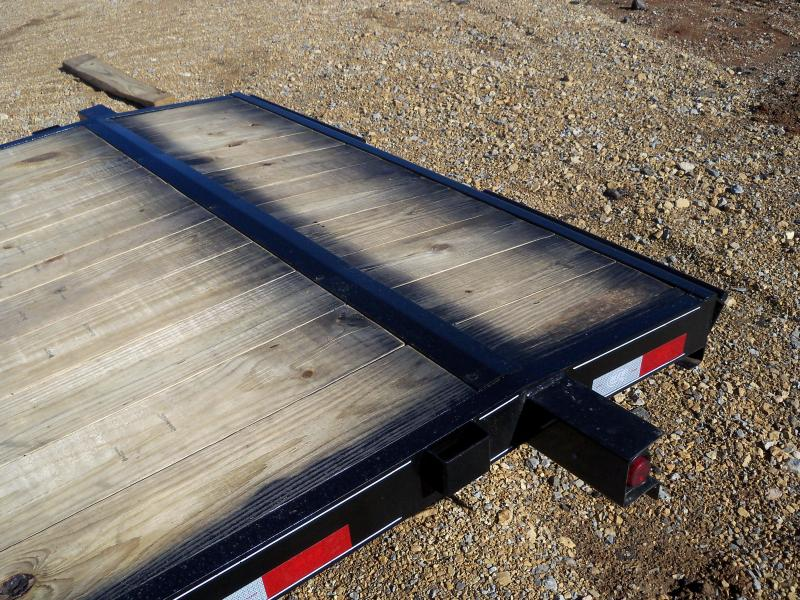 20X083 Busenbark Black Flatbed Trailer Extra Wide Dovetail Slide Under Ramps FB8320