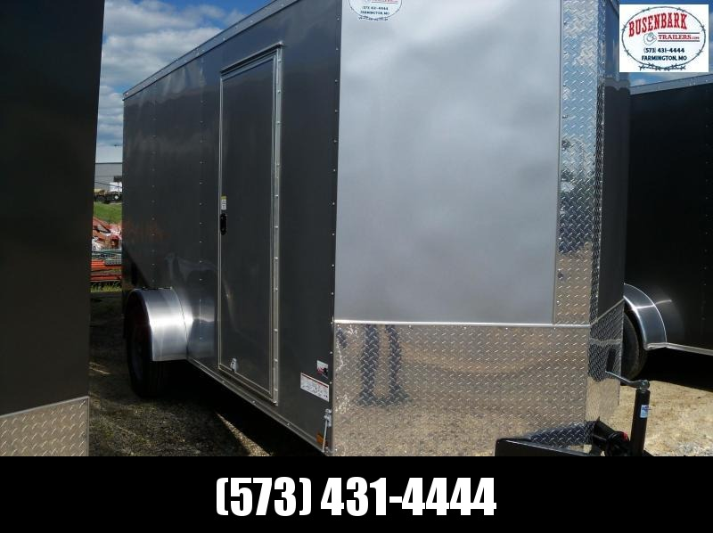 14X072 Anvil Silver V Nose Cargo Trailer AT6X14SA