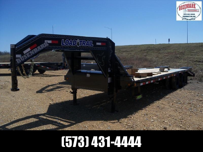 28X102 Load Trail Black Low Pro Gooseneck Flatbed Trailer GP0228102