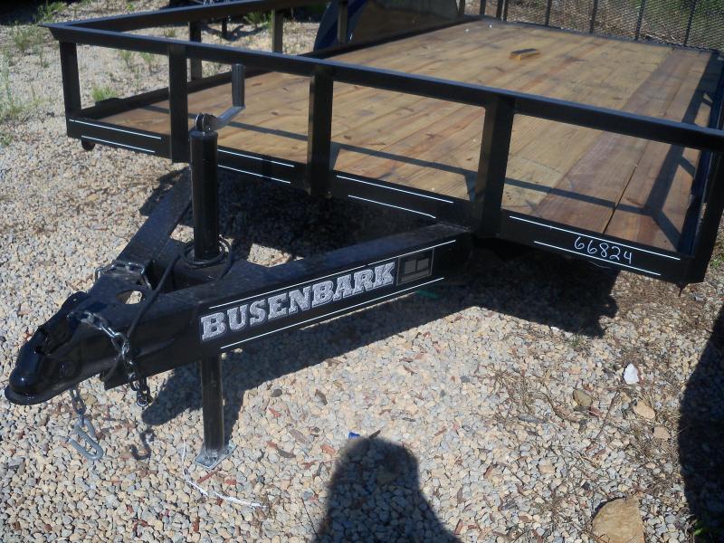 16X077 Busenbark Black Utility Trailer Dovetail Gate Stake Pockets UT7716