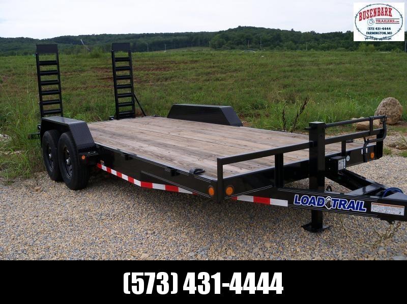18x083 Load Trail Black Carhauler Fold Up Ramps XH8318072