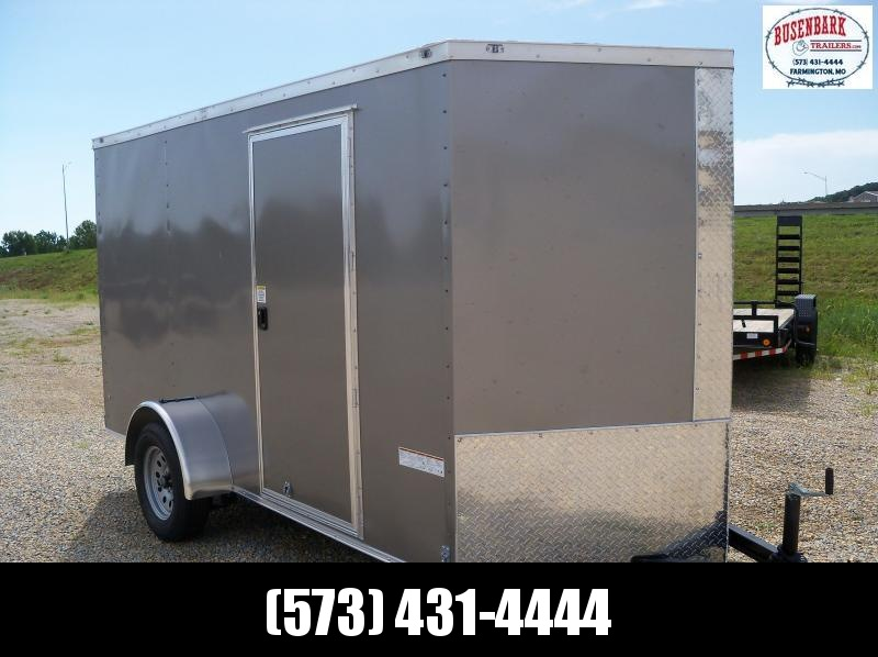 12x072 Anvil Pewter V-Nose Cargo Trailer AT6X12SA