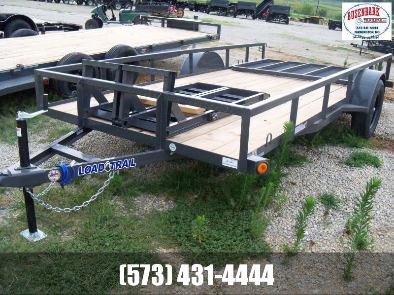 14X077 Load Trail Gray Utility Trailer 4' Fold Gate SE7714031