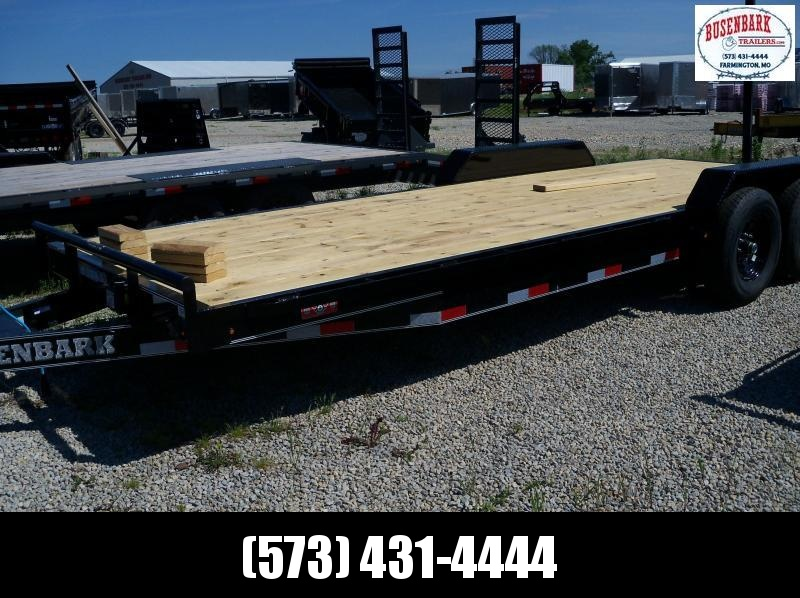 22x083 Lamar Black Equipment Hauler Utility Trailer 2' Dove Slide In Ramps H6832227