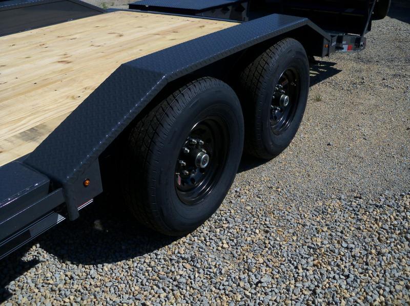 22X102 Lamar Charcoal Equipment Hauler Utility Trailer 4' Dove Rhino Ramps H6022227