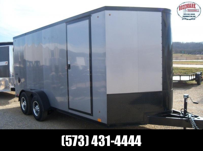 16X084 Look Black Enclosed Cargo Trailer Blackout LSCDA7.0X16TE3FG