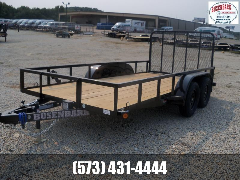 14X077 Load Trail Black Utility Trailer 4' Fold Gate UE7714032