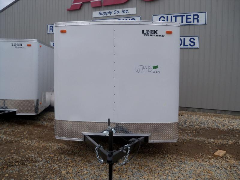 16X084 Look White Enclosed Cargo Trailer LSCAA7.0X16TE2FC