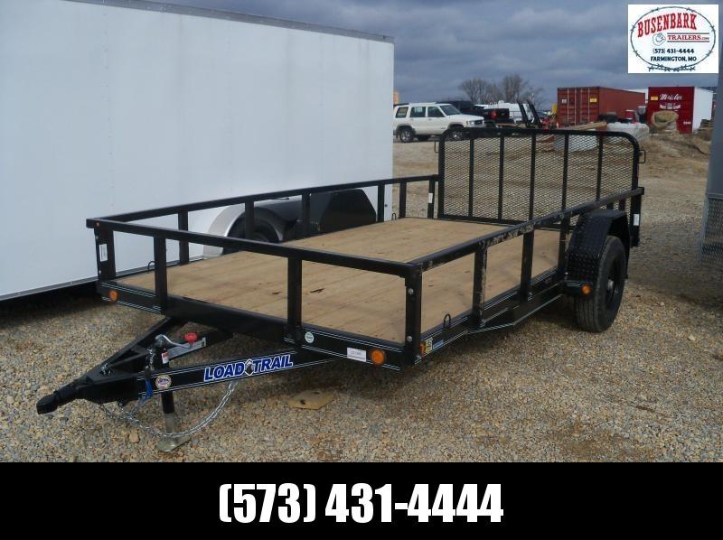 14X083 Load Trail Black Flatbed Trailer 2' Dove Tail 3' Fold Gate SB8314051