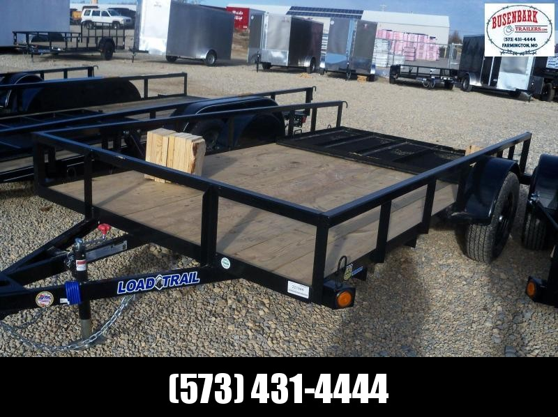 12X077 Load Trail Black Utility Trailer Nontilt 4' Fold Gate SE7712031
