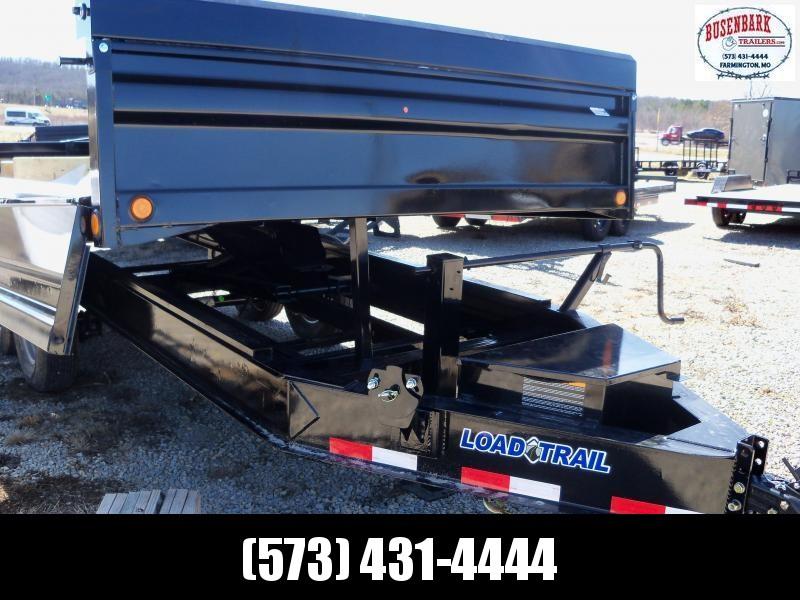 16X096 Load Trail Black Tandem Axle Dump Pintle Hook Deck Trailer DZ9616072