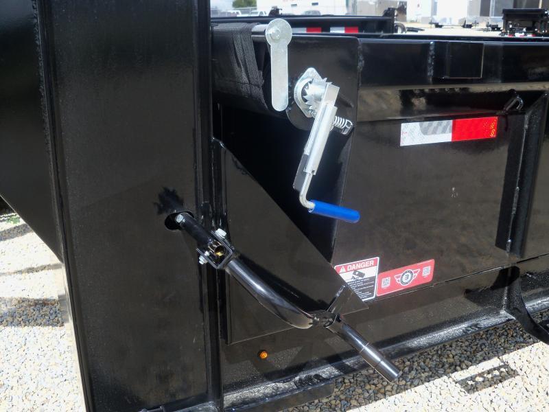 16X083 Lamar Black Gooseneck Dump Trailer Spreader Gate Slide In Ramps DL831627