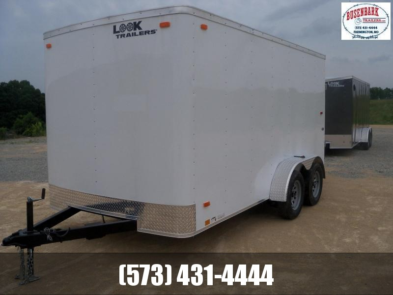 14X084 Look White Enclosed Cargo Trailer With Ramp Rear Door LSCAA7.0X14TE2FC