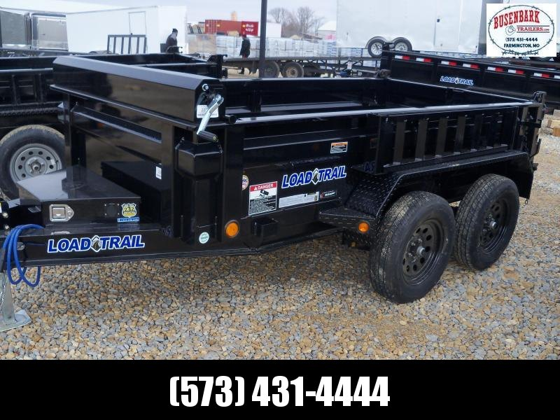 10X060 Load Trail Black Dump Trailer Side Mount Ramps DT6010032