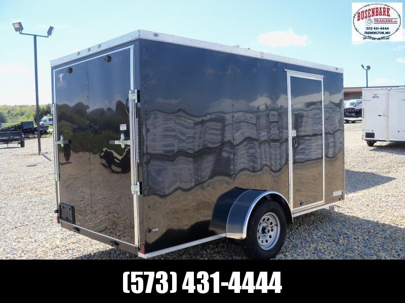 12X072 Anvil Black Enclosed Cargo Trailer AT6X12SA