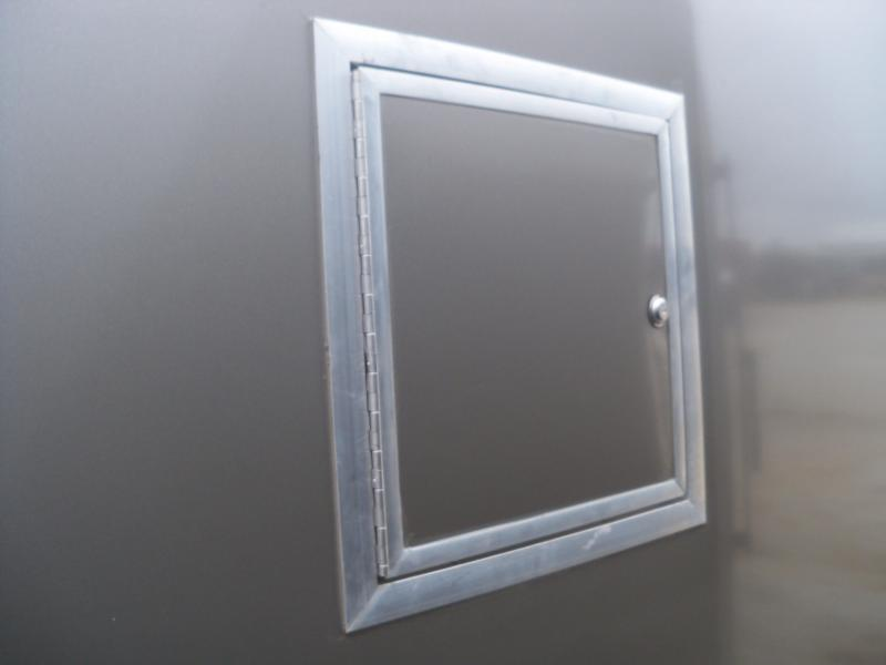 22+5x102 Look Charcoal Enclosed Cargo Trailer LSAMA8.5X27TE3RH