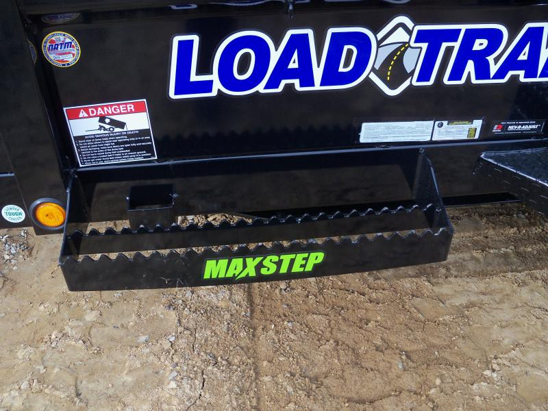 12X072 Load Trail Black Dump Trailer Slide In Ramps Max Step DT7212052