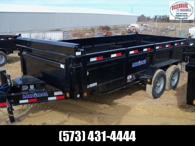 16X083 Load Trail Black Dump Trailer Slide In Ramps DT8316072