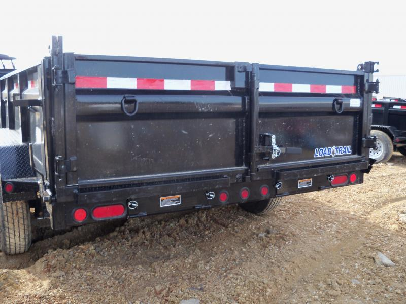 16X083 Load Trail Black Dump Trailer Slide In Ramps DT8316072