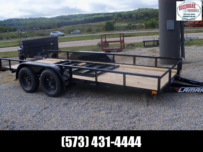 16X077 Lamar Black Utility Trailer 4' Spring Assisted Gate UT771623