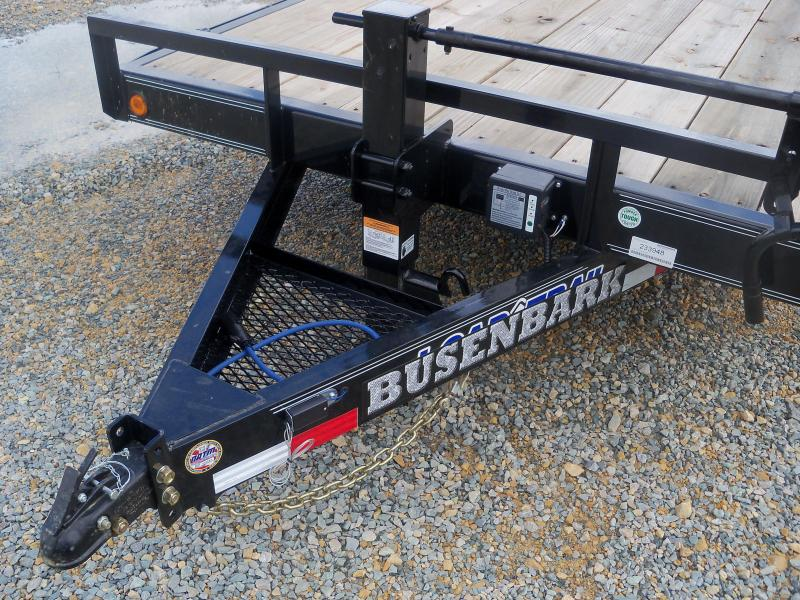 20X083 Load Trail Black Tandem Axle Carhauler With Fold Up Ramps CH8320072