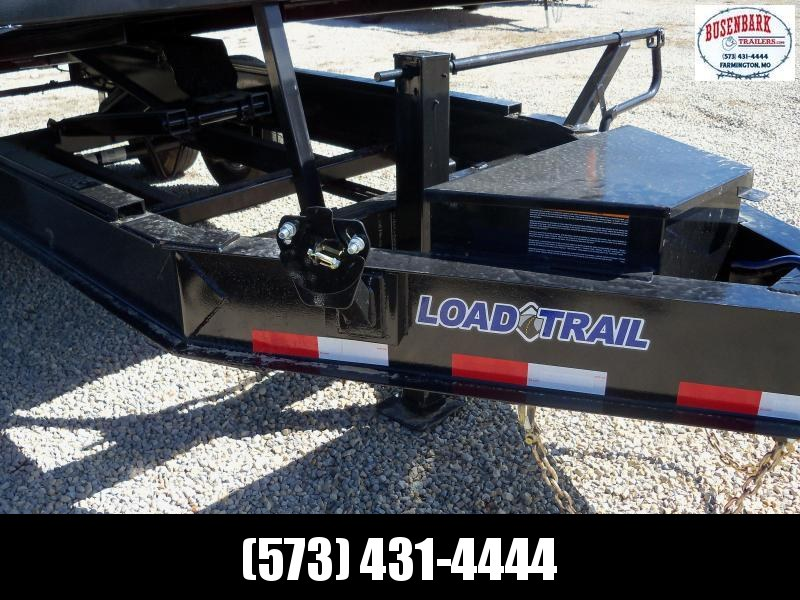 14x096 Load Trail Black Tandem Axle Dump Pintle Hook Over Deck Trailer DZ9614072