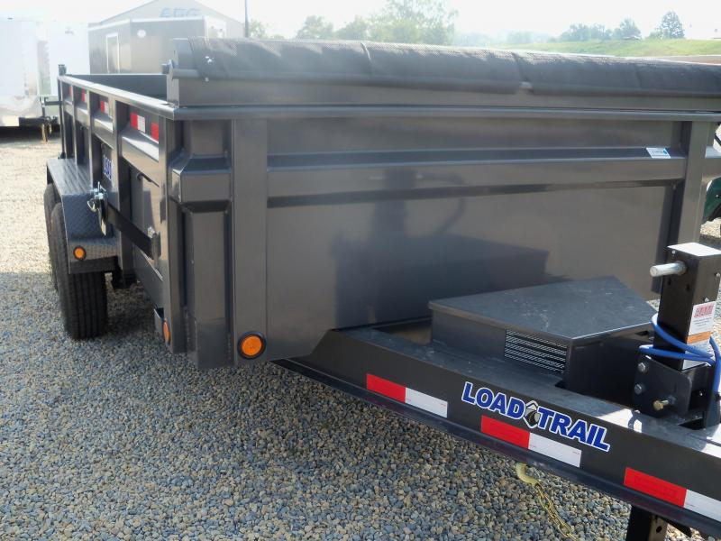 14X083 Load Trail Gray Dump Trailer Slide In Ramps Max Step DT8314072