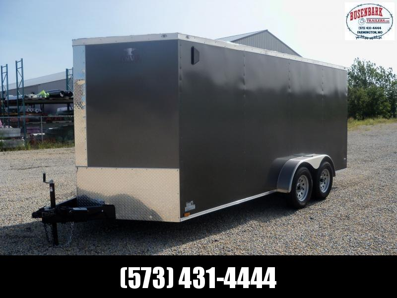 16x084 Anvil Charcoal V-Nose Cargo Trailer AT7X16TA2