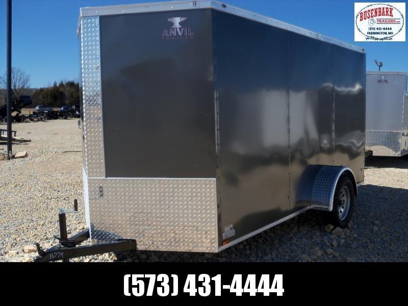 12X072 Anvil Charcoal Enclosed Cargo Trailer AT6X12SA
