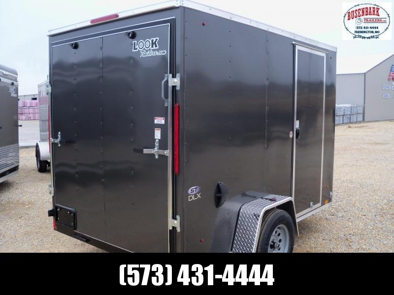 10X072 Look Charcoal Enclosed Cargo Trailer Deluxe LSAB6.0X10S12FF