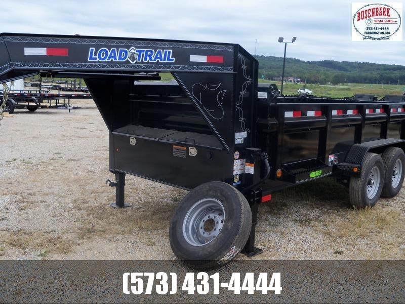 14X083 Load Trail Black Gooseneck Dump Trailer GD8314072