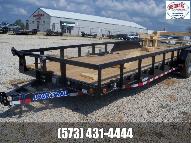 24X083 Load Trail Black Carhauler With Side Rails CS8324052