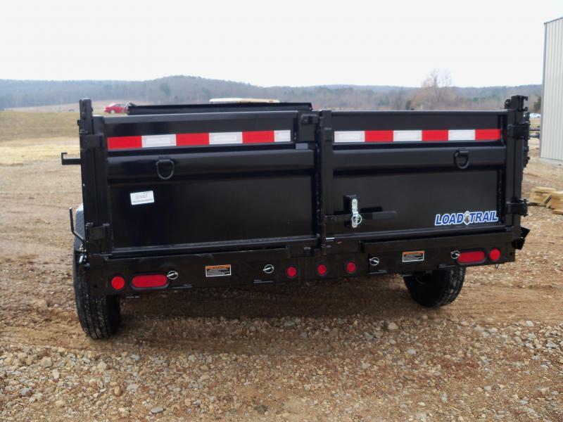 14X083 Load Trail Black Dump Trailer Slide In Ramps Max Step DT8314072