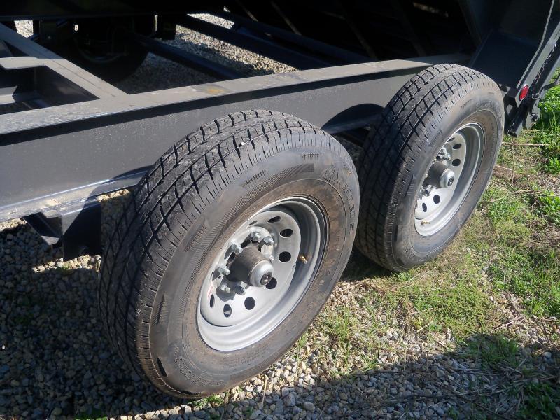 14X083 Load Trail Gray Gooseneck Dump Trailer Slide In Ramps GD8314072