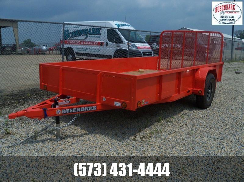 14X077 Load Trail Orange Single Axle Utility Trailer 4' Gate CH0224073